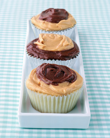 Peanut Butter and Chocolate Frosted Cupcakes
