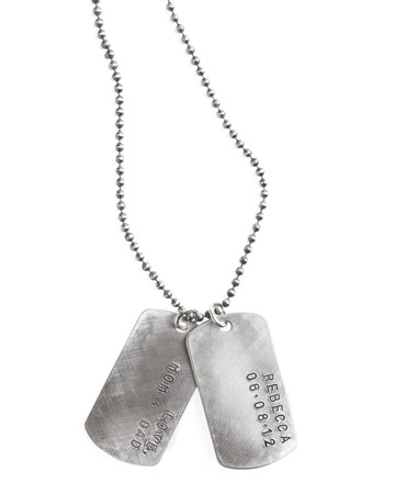 Sterling-Silver Personalized Dog Tags