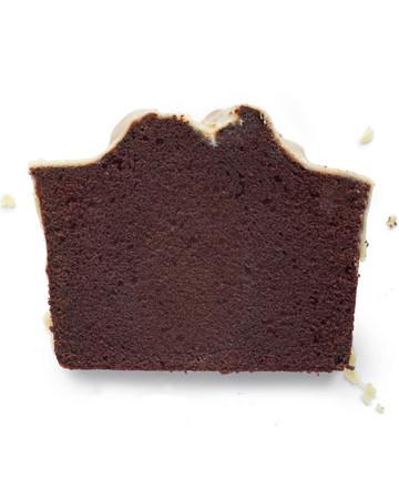 Chocolate Pound Cake with Peanut Butter Glaze