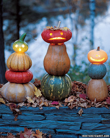 Jack-o'-Lanterns Made Tall