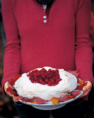 Cranberry and Vanilla Pavlova