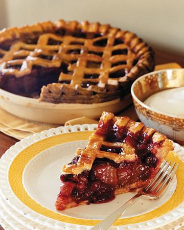 Pear-Cranberry Pie with Faux Lattice