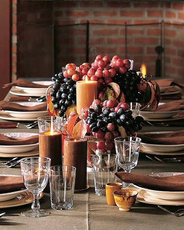 Thanksgiving Grape Centerpiece