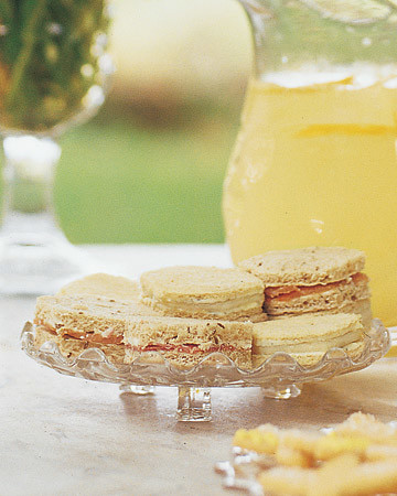 Roquefort Butter and Red Pear Tea Sandwiches