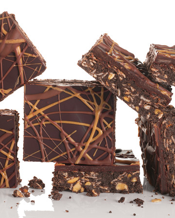 No-Bake Chocolate and Peanut-Butter Oatmeal Bars