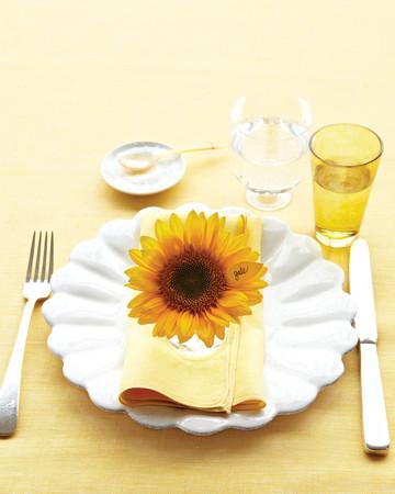 Sunflower Place Card
