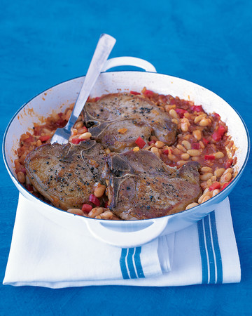 Pork Chops with White Beans