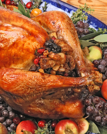 Turkey with Fruit-and-Nut Stuffing
