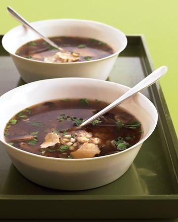 Quickest Mushroom-Barley Soup
