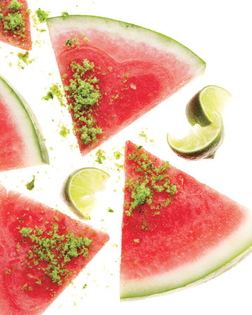 Watermelon with Herb-Sugar