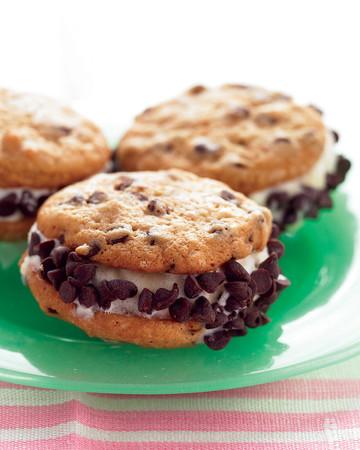 Mini Chocolate Chip Ice-Cream Sandwiches