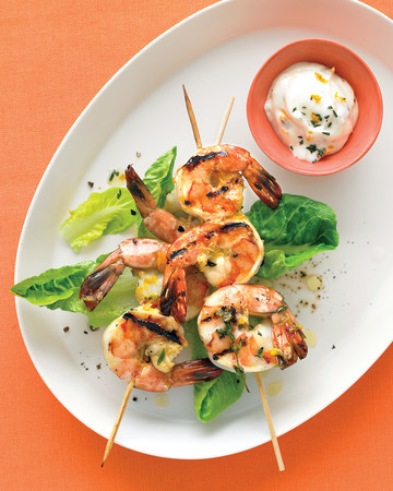 Orange-and-Thyme Grilled Shrimp
