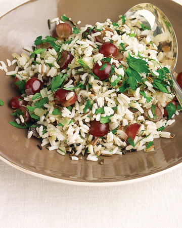 Wild Rice Pilaf with Rosemary and Red Grapes