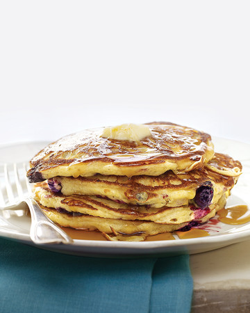 Blueberry-Cornmeal Pancakes