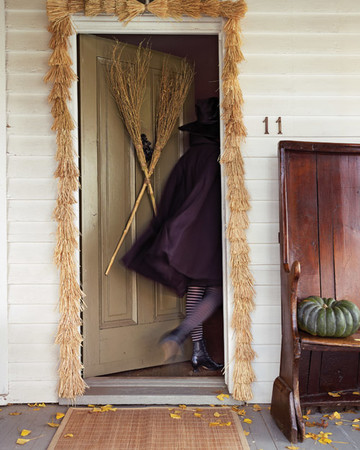 Witches' Broom Door Decoration and Garland