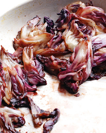 Sauteed Radicchio with Honey and Balsamic Vinegar
