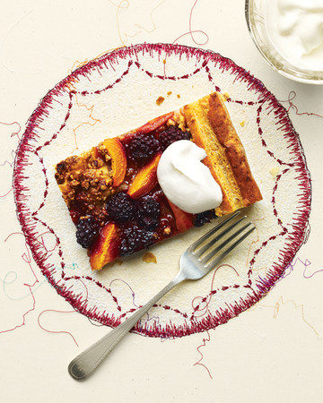 Apricot-Blackberry Puff Pastry Tart