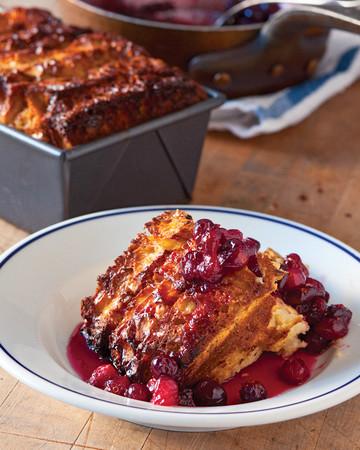 Cranberry-Maple Bread Pudding