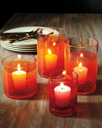 Painted Glass Votive Candleholders
