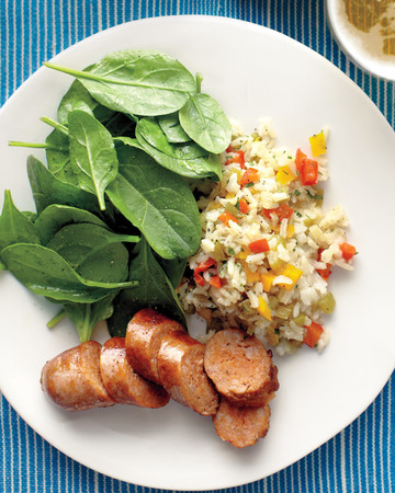 Sweet-Pepper Rice with Sausage