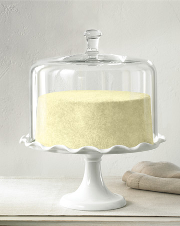 Martha Stewart Collection Milk Glass Cake Stand and Dome