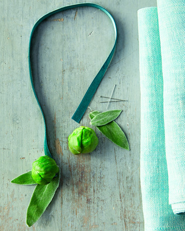 Sprout Napkin Ties How-To