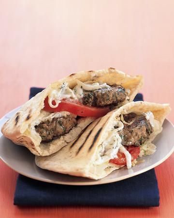 Mini Greek Lamb Burgers