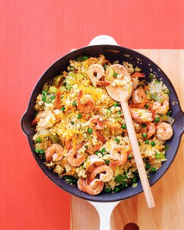 Skillet Shrimp with Couscous