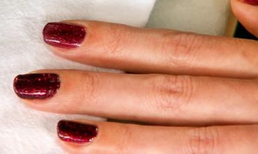 Glittered Holiday Nails