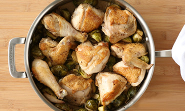 Braised Chicken with Brussels Sprouts
