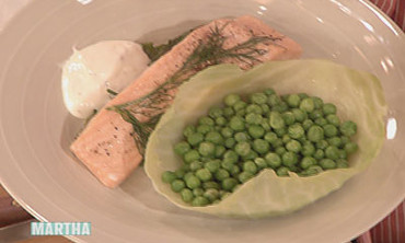 Salmon with Peas