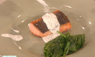 Buttermilk Cheese and Crispy-Skin Salmon