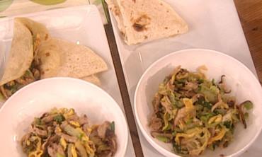 Moo Shu Pork with Mandarin Pancakes
