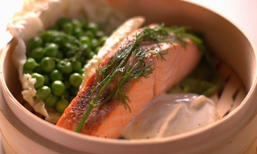 Steaming Salmon