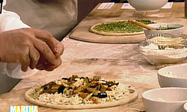 Vegetarian Pizza with Mushrooms and Pesto, Part 4