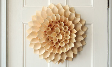 Wooden Cone Wreath