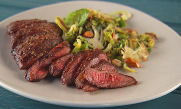 Skirt Steak with Brussels Sprouts
