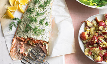 Video Roasted Salmon Menu Martha Stewart