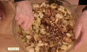 Video Chestnut And Apple Stuffing Martha Stewart