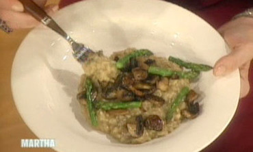 Mushroom and Asparagus Risotto, 2
