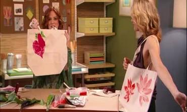 Leaf Print Tote Bags