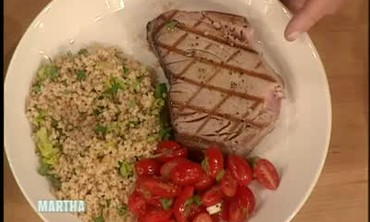 Tuna Steak and Salad