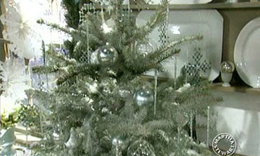 White Flocked Tree