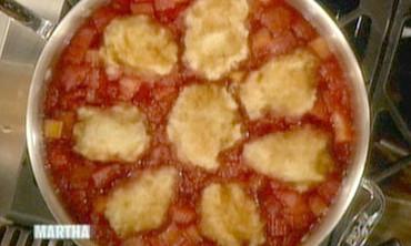 Raspberry-Rhubarb Grunt