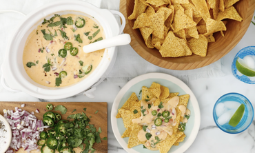 Slow Cooker Queso with Chips