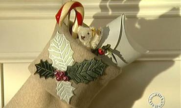 Embossed Velvet Stocking