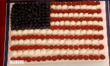 Flag Sheet Cake, Part 2