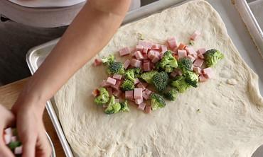 Broccoli-Ham Calzone