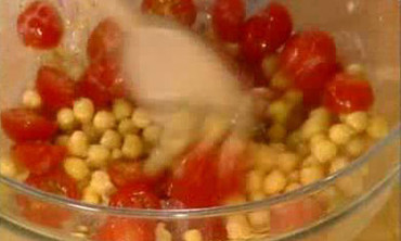 Broccoli, Chickpea, and Tomato Salad