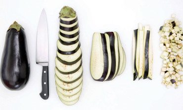 How to Cut an Eggplant